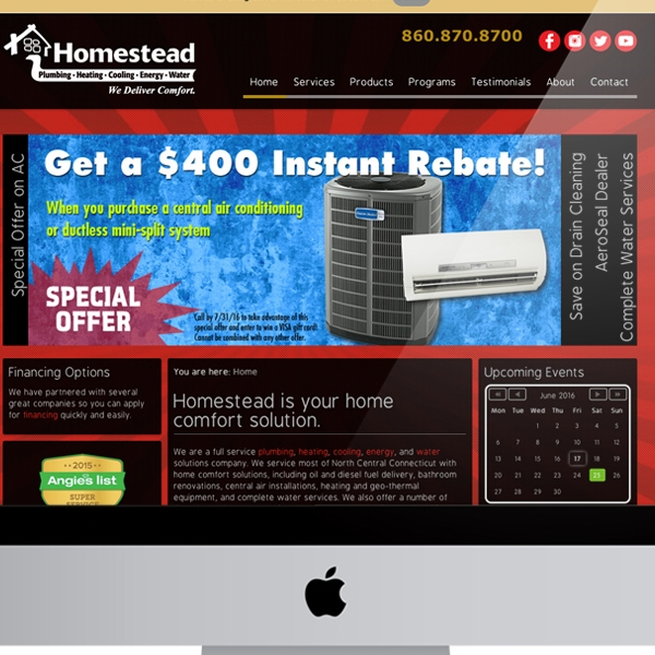 Homestead Plumbing Heating Cooling Energy & Water
